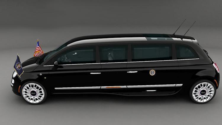 Итальянская студия превратила компактный Fiat 500 в настоящий президентский лимузин