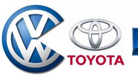 Итоги года: в 2011 году Volkswagen опередил по объёму мировых продаж Toyota